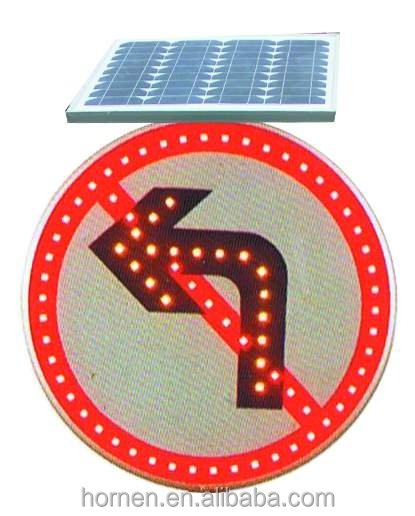 Water proof aluminum warning sign traffic sign led lighting product