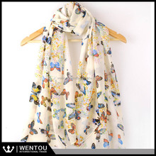 Women Lady Chiffon Butterfly PrintScarves Wrap Stole Warm Gift Neck Shawl Scarf