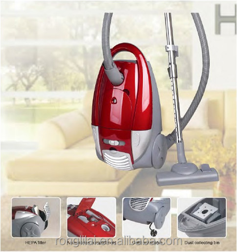 Bagless vacuum cleaner with cord rewinder & speed controller