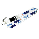 Promotional Custom Logo printed lanyard with usb flash buckle