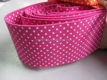 Custom printed polyester latex elastic hair band with WHITE DOT printing