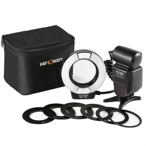 K&F Concept KF-150 I-TTL Macro Ring Light Flashs LCD Display and Wireless Slave Function Speedlite for DSLR Camera