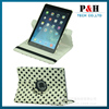 For ipad leather case, Polka Dot 360 Rotating PU Leather Case For Apple iPad 6