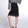 Skirt Ladies With Black Ruffles