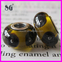 2014 customzied antique lampwork beads silver core lampwork crystal bead