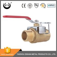 Gold supplier excellent quality threaded lockable rotary handles stop 1 inch cock brass female male ball valve