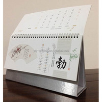 die cut 2013 design desk calendar/islamic calendar 2015