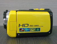 Free shipping for Waterproof YELLOW color 1080P Full HD under water 5meters 16MP digital camcorder with 3.0inch TFT screen