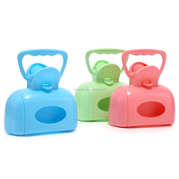 Wholesale Simple Easy Use Portable Pet Waste Clean Pick Up Blue Pink Green Colors Cat Dog Pooper Scoopers