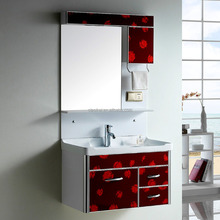 3188 Aluminum high quality red color bathroom vanity unit