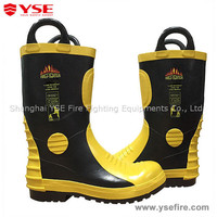 Fireman fire resistant safety boots,fire safety shoes