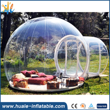Huale Inflatable-Clear inflatable lawn tent, transparent bubble tent with room