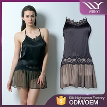 Hot new products cheap wholesale elegant women transparent fashion underwear night dress