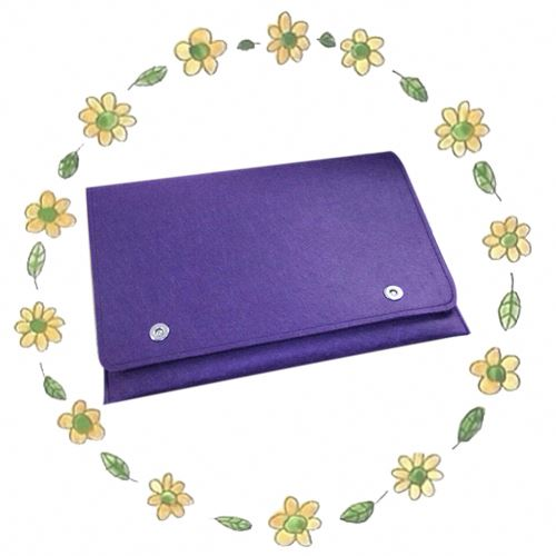 Multi-functional wool felt button PC 22inch hard case computer bag for ipad mini