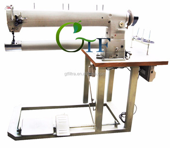 double needle long arm filter bag sewing machine