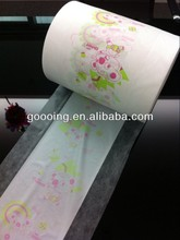 Breathable laminated film (bonded by glue) for baby diaper