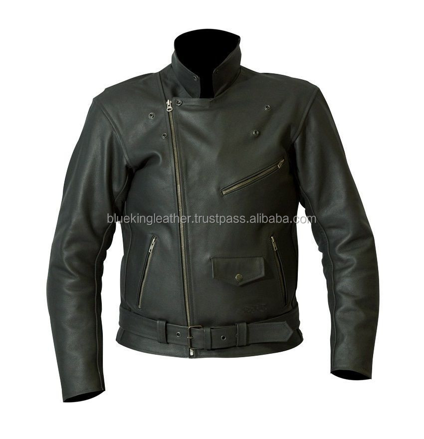 Best Quality 100% Genuine Leather Jacket Brando Biker Motorcycle