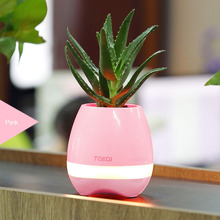 Cheap price Variable color led lights mini plastic K3 music flower pots with bluetooth
