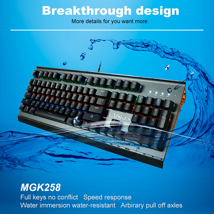 high-end USB wired sigle color and mix color back light mechanical gaming Keyboard