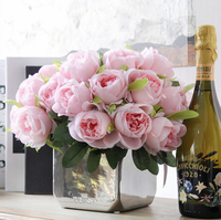 Western Rose 10flowers/Bouquet Wedding Decoration Artificial Flower Silk Flower