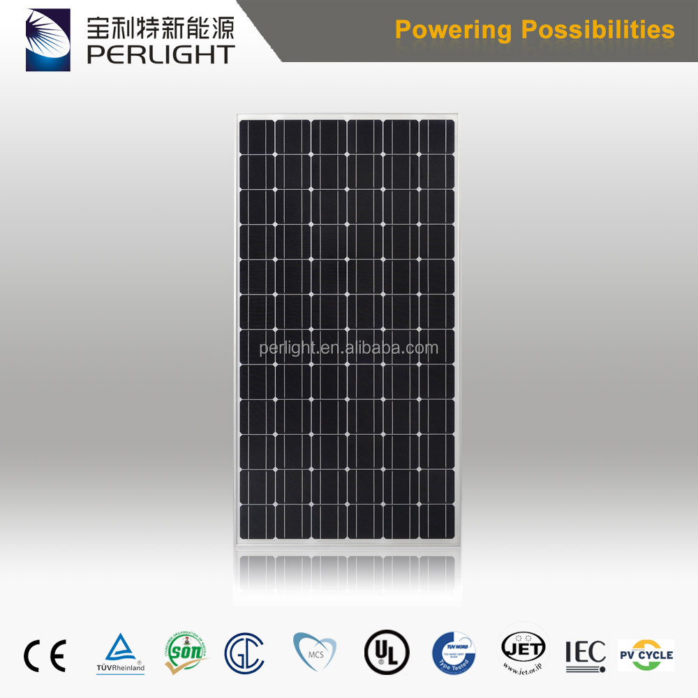 300W Mono Panel In China With Full Certificates Monocrystalline Solar Panel 300W Mono Solar Panels Solar Powered System