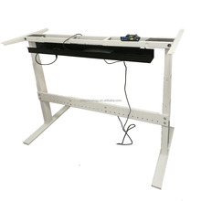 Dual motors mechanical adjustable standing desk with wire trough