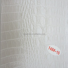 White Crocodile PVC leather used in Soft Packing Projects
