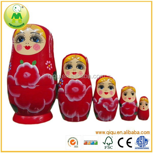 Wholesale Price Christmas Gift Fashion Wooden Russian Matreshka