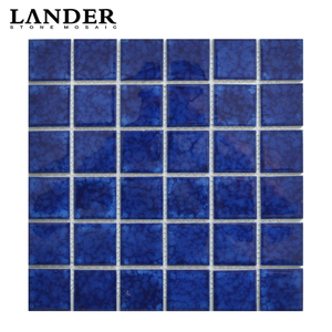 blue color mosaic tile ceramics swimming pool tile