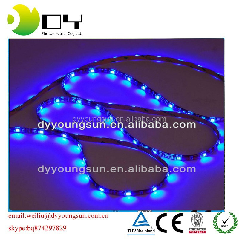 5m flexible led strip, ws2811 5050 smd rgb led chip, 48leds Black PCB, non waterproof IP33