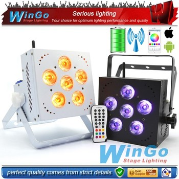 wireless dmx battery powered led uplights / led uplights for sale wedding disco party indoor stage lighting