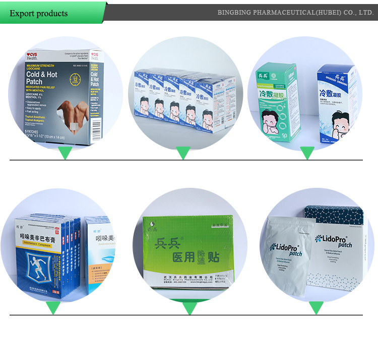 Hot selling wholesale  cold and hot medicated patch pain patch