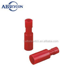 T12-Good quality FRD bullet shaped electrical brass terminals Female InsulatedTerminal