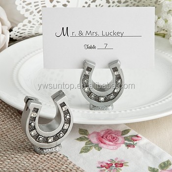 Lucky Horse Shoe wedding Place Card Holder favor
