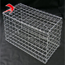 low carbon steel welded gabion box wire cages rock retaining wall 2*1*1m