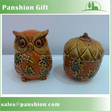 Wholesale ceramic salt and pepper set for harvest day