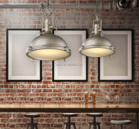 Vintage Pendant Light Industrial Light Restaurant Coffee Shop Old Silver Metal Decorative Hanging Modern Pendant Light
