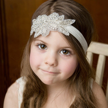 Front Decorated Glitter Sequin Hair Accessories Headband Kids Headbands