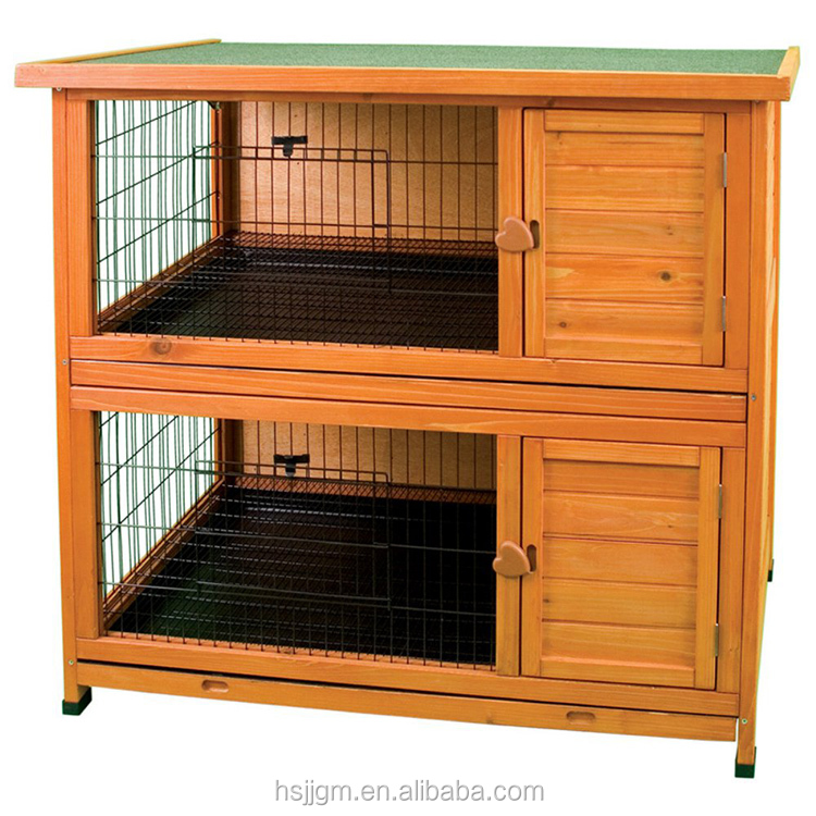 outdoor wooden rabbit hutch