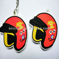 factory custom PVC keychain for motorcycles, leather keyring for gifts