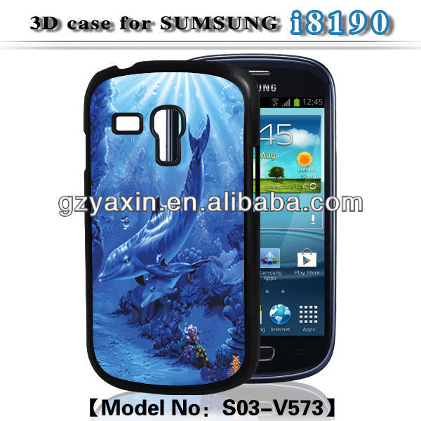 Waterproof case for samsung galaxy s3 mini i8190,3D Phone Case For Samsung S3mini