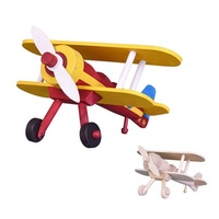 Children Toys Wood Kids Children Wholesale Natural DIY Craft Wooden Airplane Painting Kits