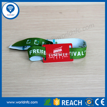 Individual design waterproof woven fabric wristband NTAG213 RFID NFC bracelet