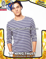 2013 long sleeve stripe casual cotton fashion t shirt for boy