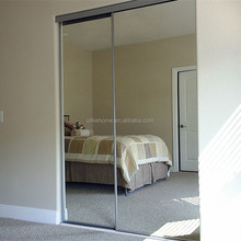 Aluminum sliding mirror wardrobe doors Bedroom Aluminum Sliding Mirror Clost Doors