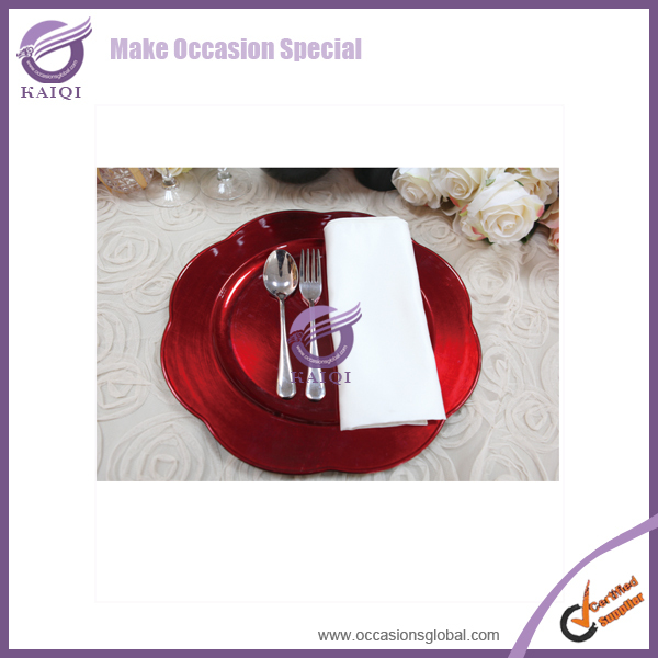 #18586New Style Flower Round Shape Tin Plates for Food
