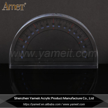 China Supplier Customized Logo Transparent Acrylic Ruler Acrylic Paper Weight