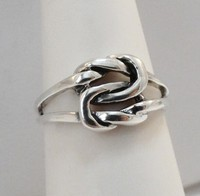 925 Sterling Silver Double Infinity Eternity Love Forever Knot Band Ring