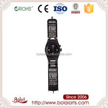 Big wrist watch design black long watch band clock metal craft designs wall decors