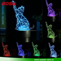 Laser Craved Kids Table Light 3D Illusion LED 3D Lamp for Christmas Gift